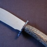 G31 - Striped Cable Damascus Bowie $1250.00